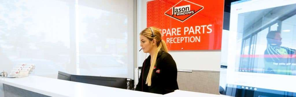 Grace working in the Jason Windows Spare Parts department