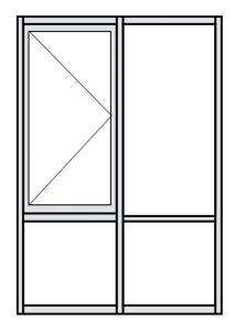 Casement Window Configuration Drawing 3