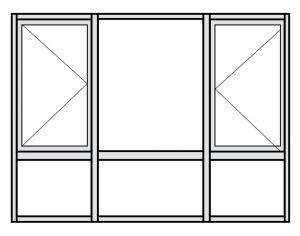Casement Window Configuration Drawing 4