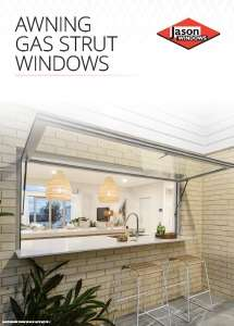Cover preview of the Awning Gas Strut Windows brochure by Jason Windows