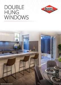 Cover preview of the Double Hung Windows brochure by Jason Windows