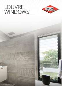 Cover preview of the Louvre Windows brochure by Jason Windows