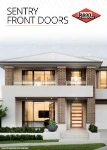 Cover preview of the Sentry Front Entry Doors brochure by Jason Windows
