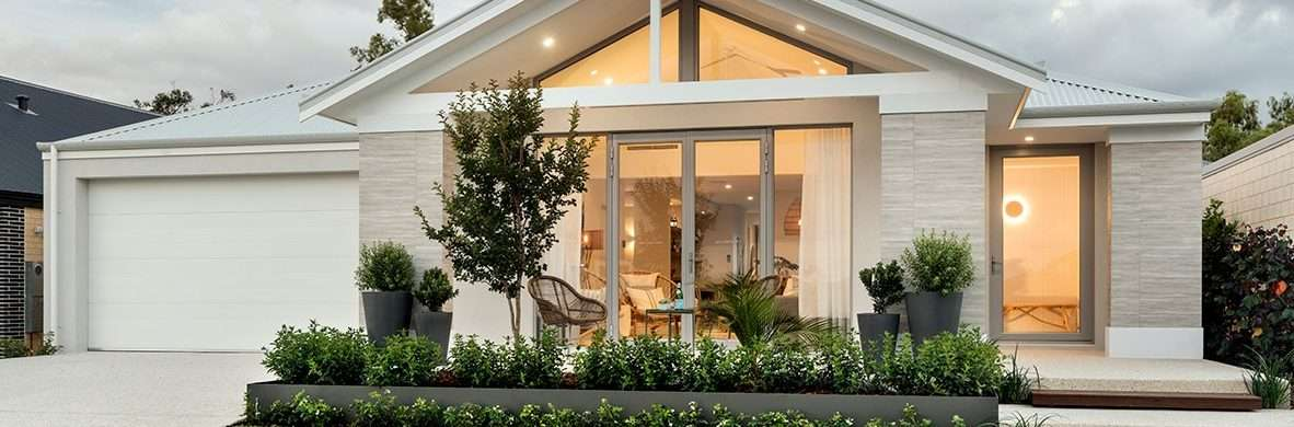 French doors on the front elevation. Dale Alcock Homes.
